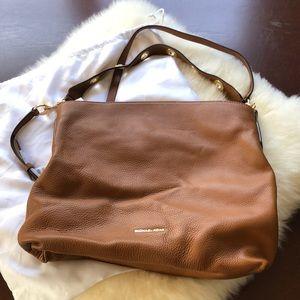 NWT Michael Kors Brown gold Leather Hobo bag large